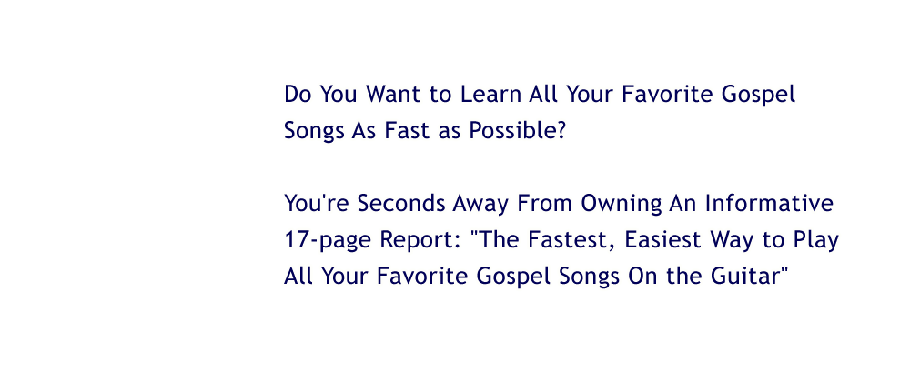 Gospel Guitar